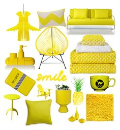 Sunshine by blackserpent on Polyvore featuring polyvore, interior, interiors, interior design, home, home decor, interior decorating, DwellStudio, Sarah Angold, HAY, Seletti, Crate and Barrel, Jonathan Adler, Happy Jackson, Fiesta and Cyan Design