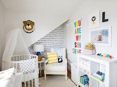 For her son Leo's nursery, designer Jillian Harris ensured there was plenty of color to go around. | Photographer: Janis Nicolay