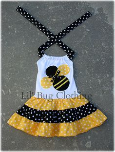Bumble Bee Girls Dress, Bumble Bee Outfit, Yellow Black Polka Dot Bumble Bee Twirl Summer Dress, Birthday Party Bumble Bee Girls Dress - - Source by Bug Clothing, Boutique Clothing, Toddler Dress, Baby Dress, Little Girl Fashion, Kids Fashion, Little Girl Dresses, Girls Dresses, Black Polka Dot Dress