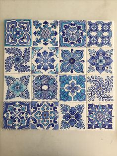 Masa desen Pottery Patterns, Pottery Designs, Tile Patterns, Pottery Painting, Ceramic Painting, Turkish Pattern, Tuile, Turkish Tiles, Blue Pottery