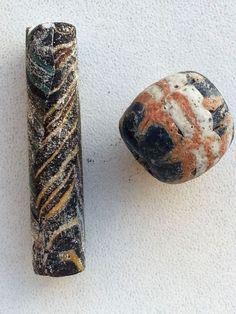 2x Ancient Phoenician mosaic glass beads. ca, 500 BC.  | eBay