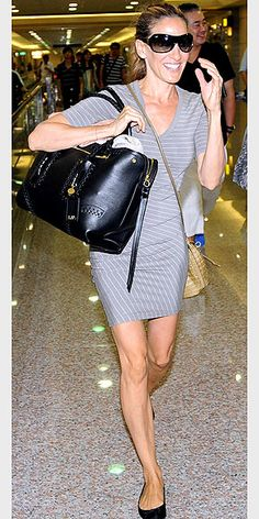 Love the comfy dress and flats.