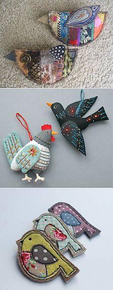 Текстильные птички