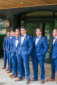 Dapper Blue Suits + Bowties | Rainy Charleston Wedding Dewberry Hotel 0082 by Charleston wedding photographer Dana Cubbage Weddings