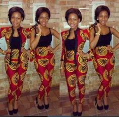 – African Designers Corner We though you would love to see some of our Random Ankara Styles. African Inspired Fashion, African Print Fashion, Africa Fashion, Fashion Prints, African Attire, African Wear, African Women, African Style, African Print Dresses