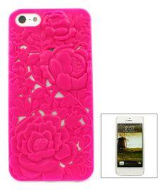 Fuchsia Chrysanthemum iPhone 5 Case. Girly Phone Cases d42056fbe676b