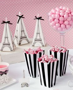 Plan the Perfect Paris Themed Party How cute are these Eiffel Tower favour boxes? They'd be perfect for a Paris themed party!How cute are these Eiffel Tower favour boxes? They'd be perfect for a Paris themed party! Paris Themed Birthday Party, 13th Birthday Parties, Birthday Party Themes, 10th Birthday, Barbie Theme Party, Chanel Birthday Party, Birthday Ideas, Paris Sweet 16, Chanel Party
