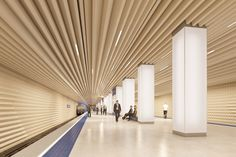 Metro Platform. Image Courtesy of Variant Studio.  Backlit column