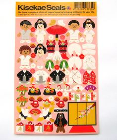 Beautiful Japanese Stickers Traditional by FromJapanWithLove, $5.50