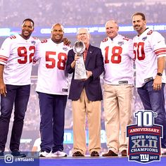 """13.7k Likes, 256 Comments - New York Giants (@nygiants) on Instagram: """"Photos from last night's halftime ceremony. Click the link in our bio to watch the SBXLII 10-year…"""""""