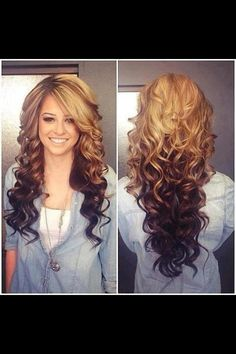 Beautiful curls & the only ombre hair I like so far! Beautiful curls & the only ombre hair I like so Love Hair, Great Hair, Gorgeous Hair, Amazing Hair, Gorgeous Blonde, It's Amazing, Reverse Ombre Hair, Ombre Hair Color, Hair Colors