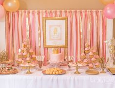 Lily Kate's Pink and Gold Princess Party