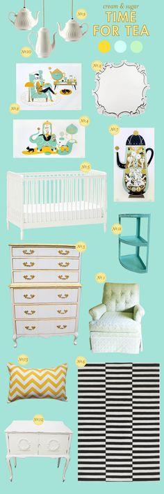 61 Ideas Baby Girl Themes Nursery Color Schemes Aqua For 2019 Baby Girl Nursery Themes, Baby Boy Rooms, Baby Boy Nurseries, Baby Room, Themed Nursery, Girl Rooms, Nursery Ideas, Nursery Decor, Bedroom Decor