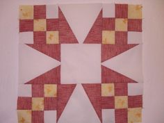 I was so cross with myself when I made the delightful yankee star chain quilt block.  I wasn't concentrating and I ended up wasting fabric because I sewed pieces together incorrectly and then trimmed them before checking that they were correct.  Some quilt block patterns take more concentration than others!  I have made it here …