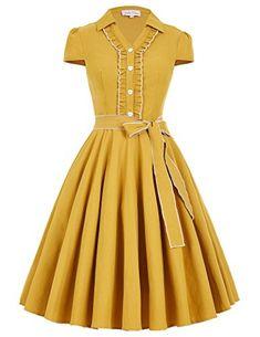 Gorgeous Knee-Length Swing Dress With Sash BP167-2_M