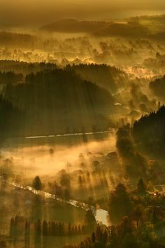 Spring morning in Rudawy Janowickie Mountains, Poland #britairtrans