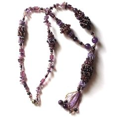 Beaded pedant necklace Mystery Beads jewellery