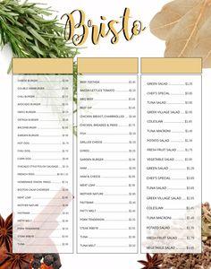 fine dining restaurant customizable menu template menu templates