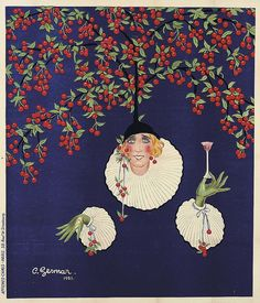 Vintage Mistinguett Poster Design by Charles Gesmar Andy Warhol, Vintage Artwork, Vintage Posters, Vintage Illustrations, Cherry Liqueur, London Transport Museum, Ad Art, Expo, Vintage Advertisements
