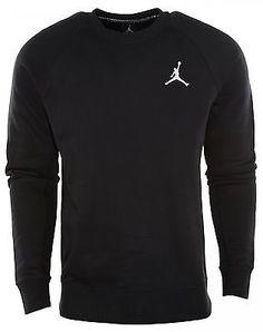 Nike Jordan Jumpman Brushed Crewneck Black Sweatshirt 688997-010 Mens Size XL