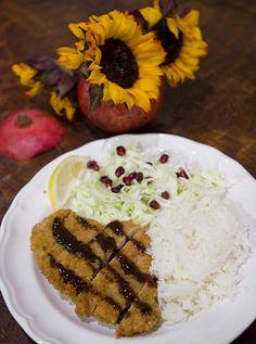 Tonkatsu (Breaded pork or chicken cutlet) with a Pomegranate Molasses Tonkatsu Sauce