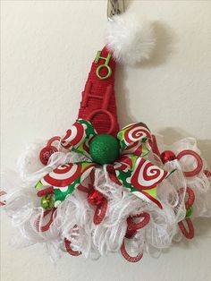174 Best Whitch Santa Hat Form Images In 2019 Wreath Ideas Crown