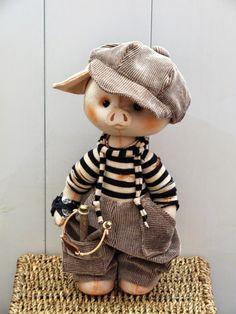 Это всё любви счастливые моменты Pig Crafts, Crochet Pig, Handmade Stuffed Animals, Teddy Toys, Cute Pigs, Bear Doll, Paperclay, Little Pigs, Felt Toys