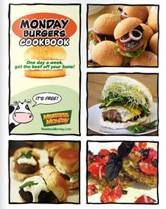 Get the Beef Off Your Buns on #MeatlessMonday with our free #MondayBurgers Cookbook.
