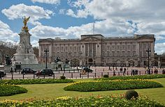 Buckingham Palace (UK /ˈbʌkɪŋəm ˈpælɪs/[1][2]) is the London residence and administrative headquarters of the reigning monarch of the United Kingdom.[3][4] Located in the City of Westminster, the palace is often at the centre of state occasions and royal hospitality. It has been a focal point for the British people at times of national rejoicing and mourning.