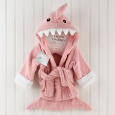 Let the Fin Begin' Pink Shark Robe
