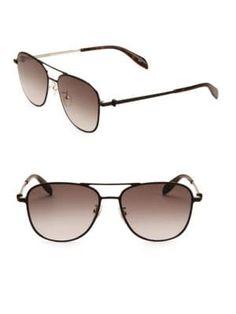 981b5c39825 ALEXANDER MCQUEEN 56MM Sunglasses.  alexandermcqueen
