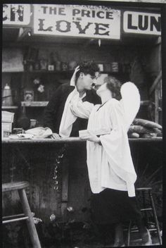 The price is love.  Charlie & his future wife in a deleted scene from The Kid (1921).