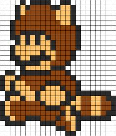 Kandi Patterns for Kandi Cuffs - Characters Pony Bead Patterns Melty Bead Patterns, Pearler Bead Patterns, Perler Patterns, Beading Patterns, Kandi Patterns, Perler Beads, Perler Bead Mario, Fuse Beads, Perler Bead Designs