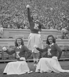 UK cheerleaders. 1949