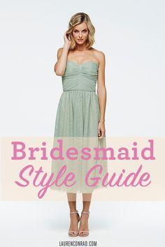 Bridesmaid Dress Style Guide via @LaurenConrad.com #ourskinnybridesmaid #ourskinnyweddings #dressguide