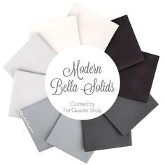Modern Bella Solids Fat Quarter Bundle Moda Fabrics    Fat Quarter Shop
