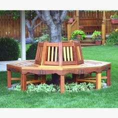 Handsome eight segments tree seat... Plan available at Workshop Supply . com