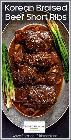Short Rib Recipes Crockpot, Pork Recipes, Asian Recipes, Cooking Recipes, Recipes With Beef Short Ribs, Recipe For Short Ribs, Beef Ribs Recipe Oven, Braising Ribs Recipe, Best Short Rib Recipe
