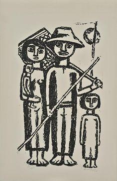 Βάσω Κατράκη   Ψαράδες (1957) Greek Art, Darth Vader, Fictional Characters, Fantasy Characters