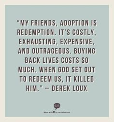 Jill Samter: Counting the Cost of Adoption – {Good Parenting and Love is NOT Enough}