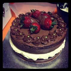 Easy birthday cake chocolate