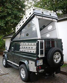 Hard sided pop-up roof tent...I'd sport this! by defender.tumbler.com. - - - - - - #wytac #wyvernoutfitters #overland #overlanding #GetLost #getoutside #getoutdoors #badass #camping #bugout #wildernessculture #adventure #modernoutdoorsman #theoutbound #themodernvoyage #doyoutravel #awesomeearth #ourplanetdaily #travel #nakedplanet #4x4 #defender110 #defender90 #landrover #landroverdefender