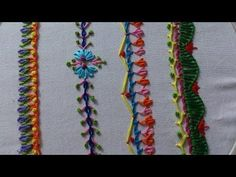 Hand embroidery stitches tutorial for beginners.Part-6, decorative stitches. - YouTube