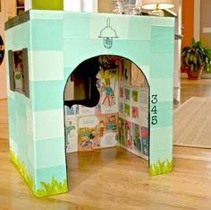 cardboard playhouse.