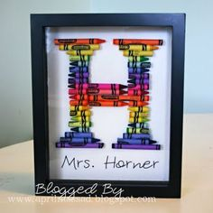 So cute! This one is a teacher gift but any kid would enjoy making their initial