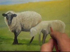 Easy Sheep Acrylic Painting Emerald Isles Series Tutorial LIVE Step by Step Lesson - YouTube