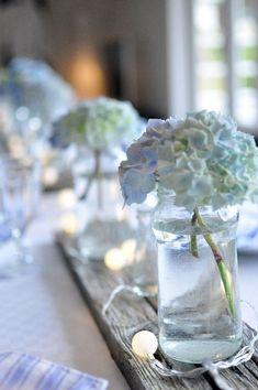 flower arrangements for wedding - white Modern Wedding Flowers, Purple Wedding, Wedding White, Flower Decorations, Wedding Decorations, Table Decorations, Hotel Wedding, Our Wedding, Floral Artwork