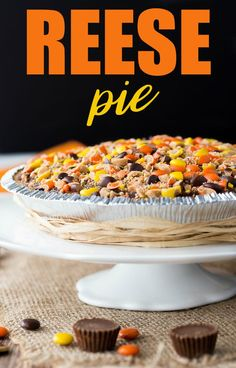 This decadent no-bake dessert is all about REESE which is why it's aptly named REESE Pie. It has layers and layers of rich peanut butter chocolate! Peanut Butter Desserts, Köstliche Desserts, Delicious Desserts, Dessert Recipes, Yummy Food, Reese Peanut Butter Recipe, Pie Recipes, Sweet Desserts, Pumpkin Recipes