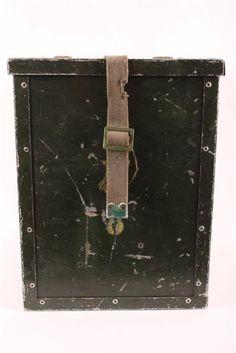 Militær kasse, grøn med alukant, brugt