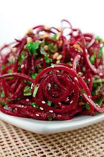 Sesame Beet Salad with Chia Dressing